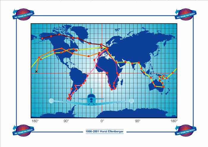 Horst's many flights across the World